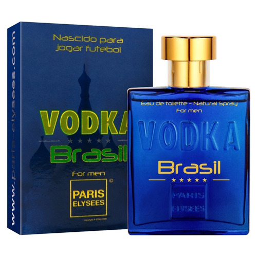 Vodka Brasil Azul Masculino Eau De Toilette 100ml - Paris Elysees